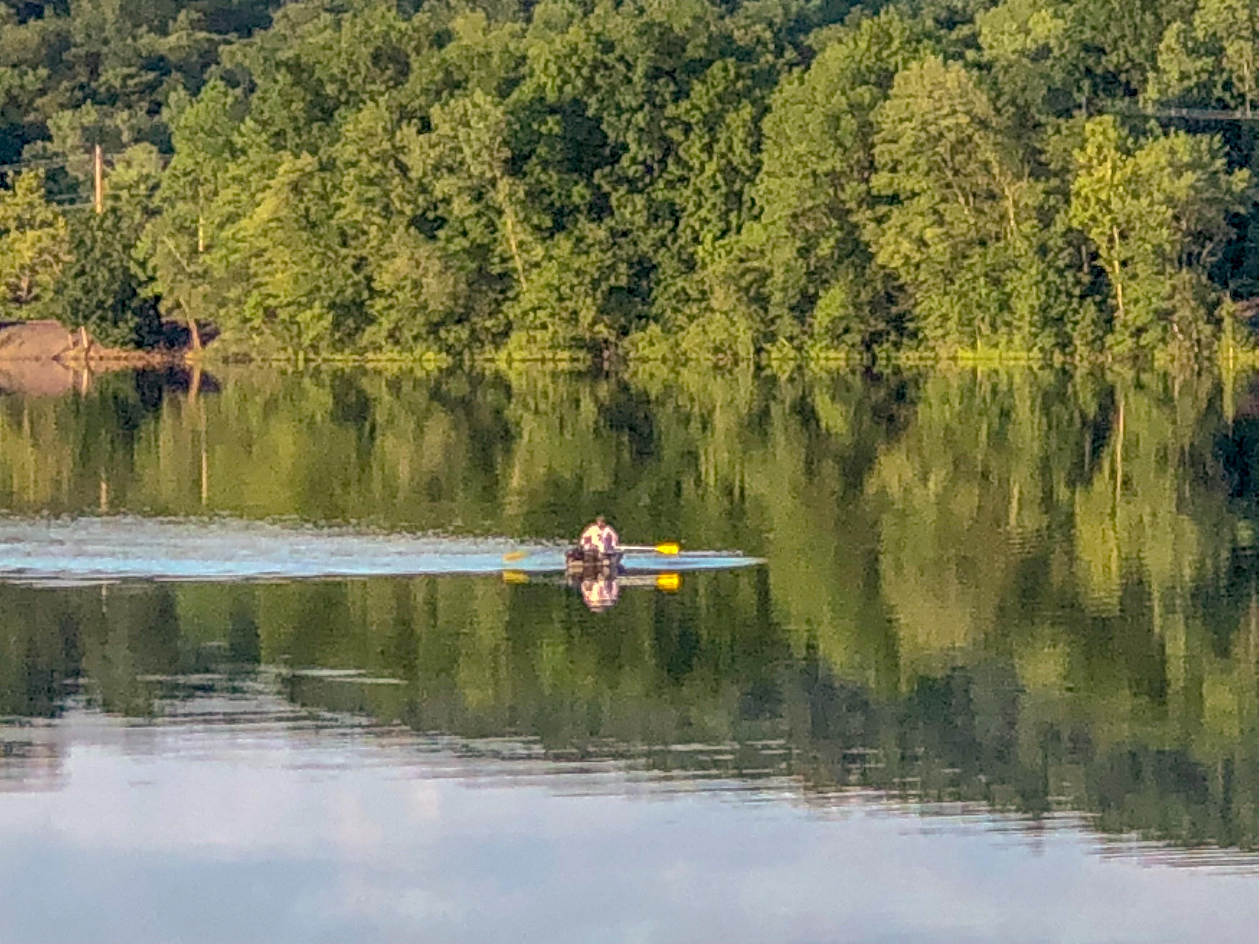 Canoe Fishing on Muscoot Reservoir