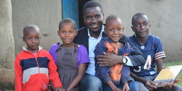Sapphire Foundation Founder Paul Collins and Kids