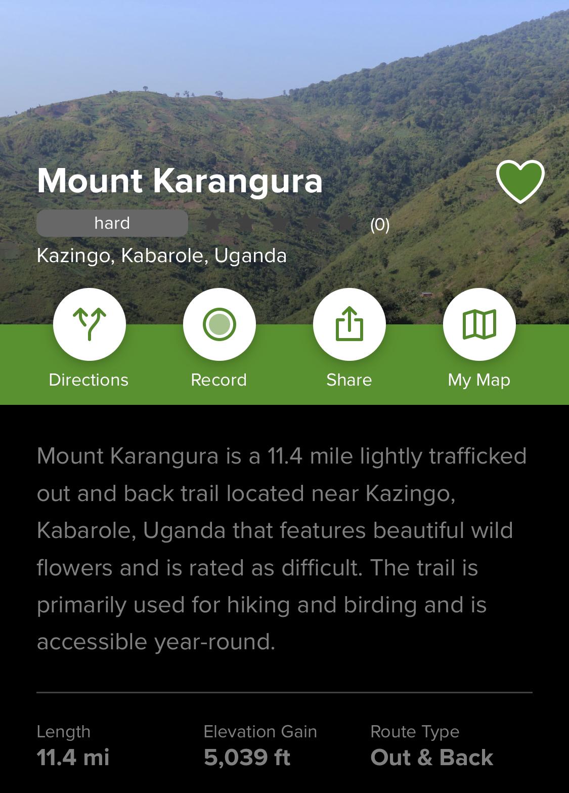 Mount Karangura Trail