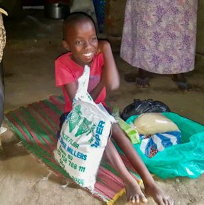 Food Recipient in August in the Rwenzori Mountains