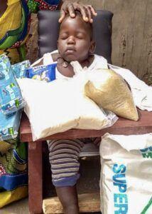Ekau Augustine, Age 5 mo, CP Chair, Oclage Village, Kaberamido Town, Soroti District, Uganda, Cerebral Palsy
