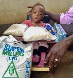 Nasimbwa Abas, Age 5 mo, CP Chair, Opiro Village, Soroti Town, Soroti District, Uganda, Cerebral Palsy