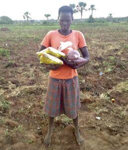 Eryeru John Stephen's Family Ready to Plant Seeds, Obutie Village, Soroti District, Farming