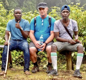 Paul Collins, Tim Gillen & Josh Kasaija during Hike for Duchenne III (Oct 30, 2019)