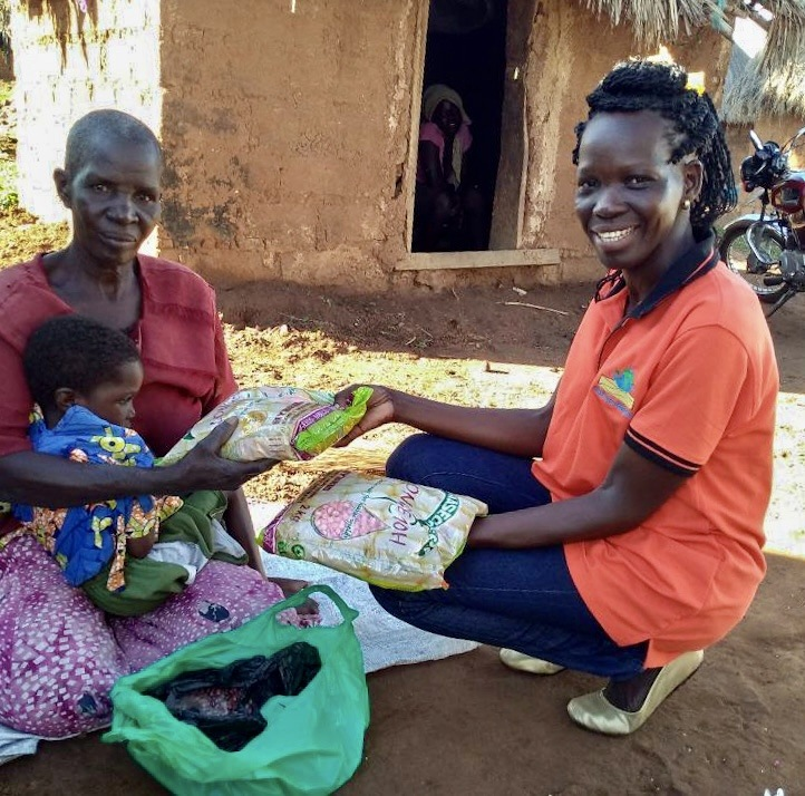 Giving Seeds to Asio Josephine & Family