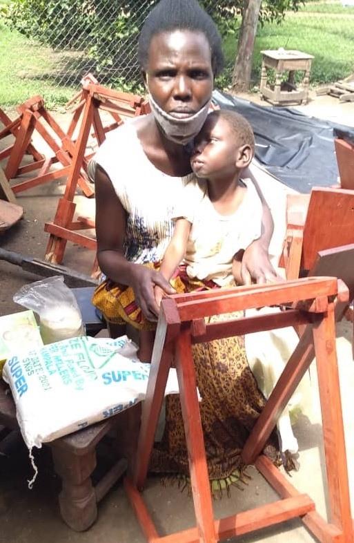 Achana Stella - 9 yrs old - Walker - Ongunia Village, Soroti District - Cerebral Palsy