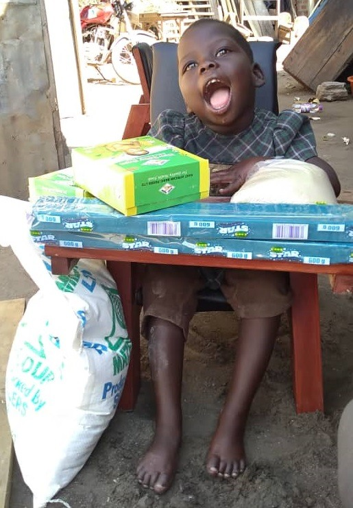 Awulo Judith - 3 yrs old - CP Chair - Katine Village, Soroti District - Cerebral Palsy