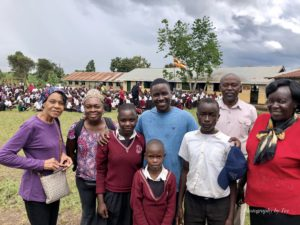 Three of the Sapphire Foundation children at Kiguma Primary School in Fort Portal