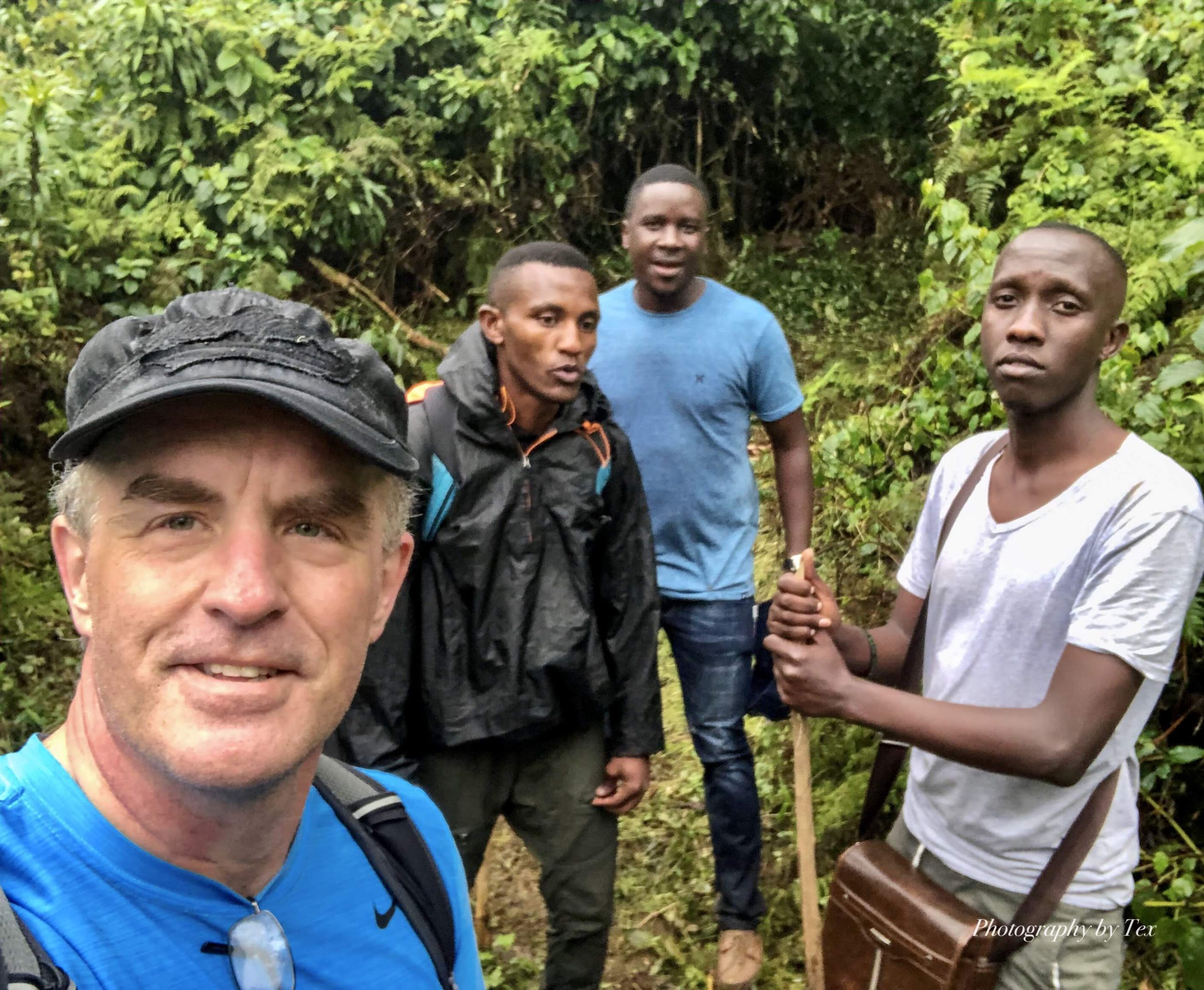 Tim, Latiff, Paul & Josh on Hike for Duchenne Uganda