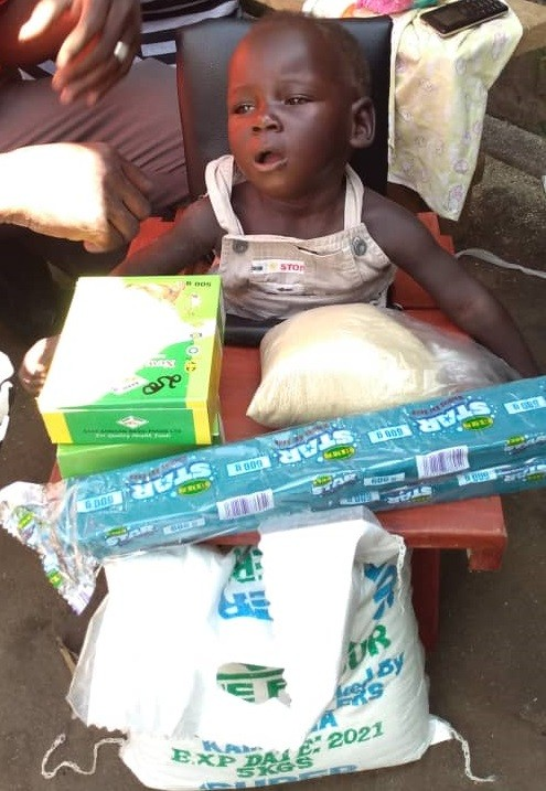 Opio John - 8 months - CP Chair - Akism Gweri Village, Soroti District - Cerebral Palsy