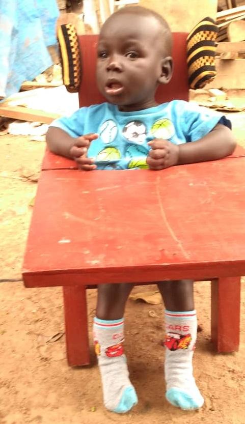 Jotham Emalu, Age 9 Months, Kalaki District, Kalaku Town, Kakure Village