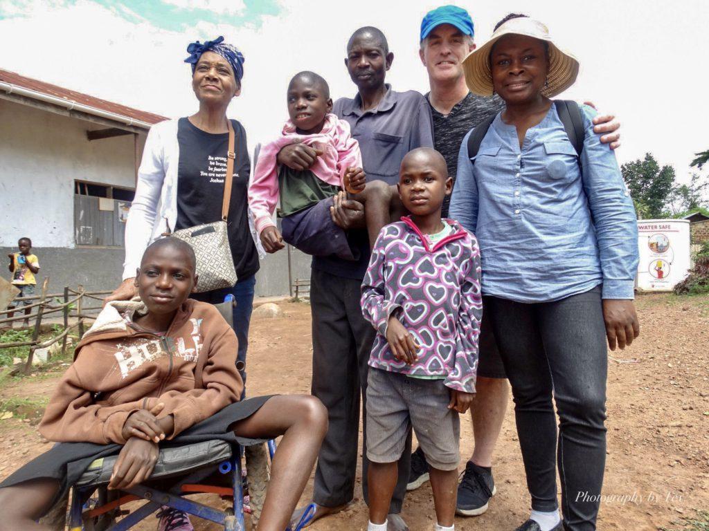 Tim, Teina, Celia and the Kayongas at SSegganga Primary School