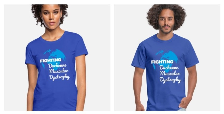 Fighting Duchenne Muscular Dystrophy Men and Women's t-shirt-COLLAGE