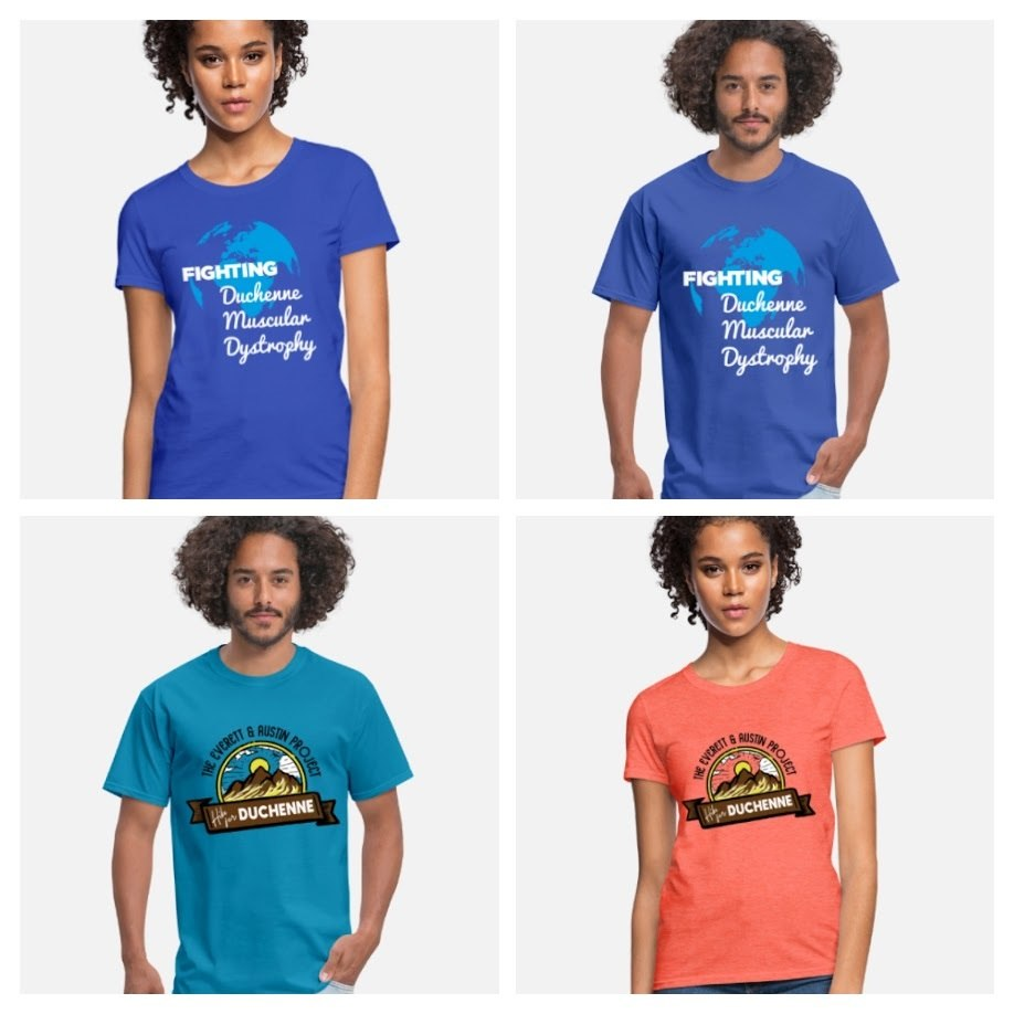 Fighting Duchenne Muscular Dystrophy and Hike for Duchenne Men and Women's t-shirt-COLLAGE