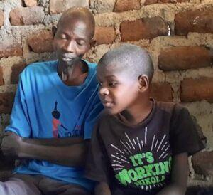 Paul Kayonga with his son Emma