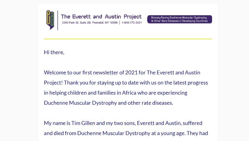 spring 2021 newsletter screenshot