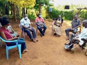 Our team in Uganda visiting in Kapchorwa if East Central Uganda recently with a young man thought to have Duchenne Muscular Dystrophy