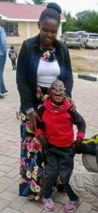 Alpha Mundui (age 8, b.d. Sept 8, 2013) with his mum
