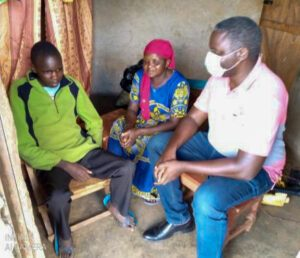 Daniel Chepkwerui (age 16) with his mum and Tony